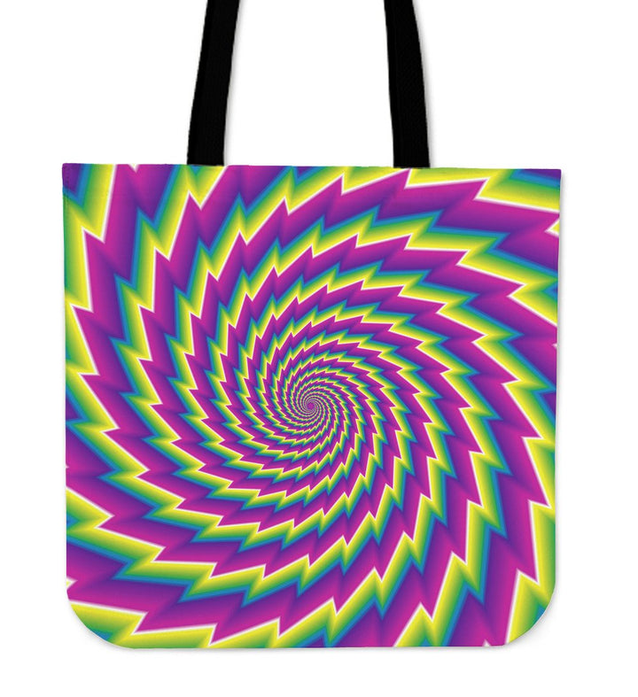 Abstract Twisted Moving Optical Illusion Tote Bag GearFrost