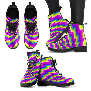 Abstract Twisted Moving Optical Illusion Women's Boots GearFrost
