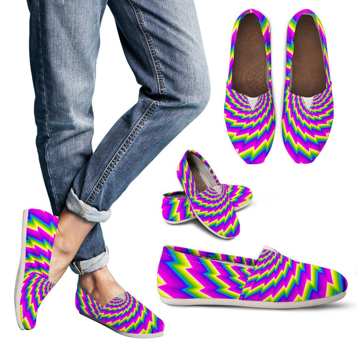 Abstract Twisted Moving Optical Illusion Women's Casual Shoes GearFrost