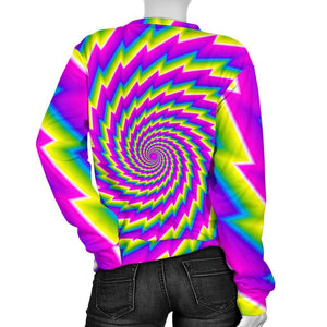 Abstract Twisted Moving Optical Illusion Women's Crewneck Sweatshirt GearFrost