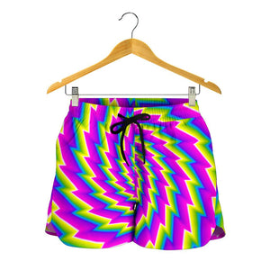 Abstract Twisted Moving Optical Illusion Women's Shorts GearFrost