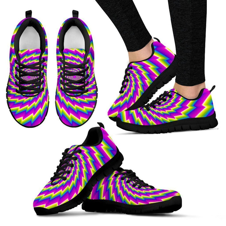 Abstract Twisted Moving Optical Illusion Women's Sneakers GearFrost