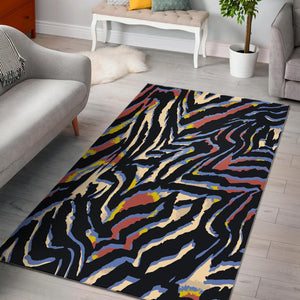 Abstract Zebra Pattern Print Area Rug GearFrost
