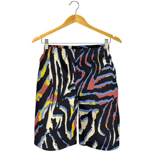 Abstract Zebra Pattern Print Men's Shorts GearFrost