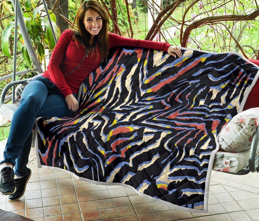 Abstract Zebra Pattern Print Quilt GearFrost