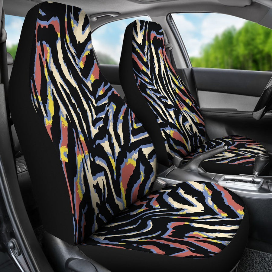 Abstract Zebra Pattern Print Universal Fit Car Seat Covers GearFrost
