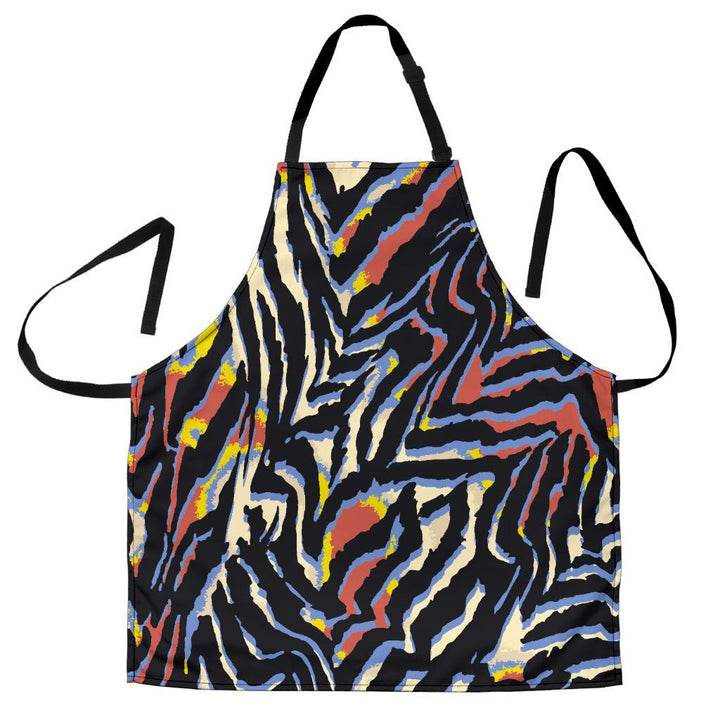 Abstract Zebra Pattern Print Women's Apron GearFrost