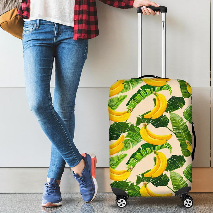 Aloha Banana Pattern Print Luggage Cover GearFrost
