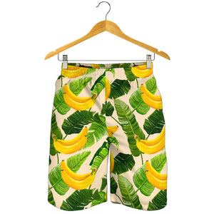Aloha Banana Pattern Print Men's Shorts GearFrost