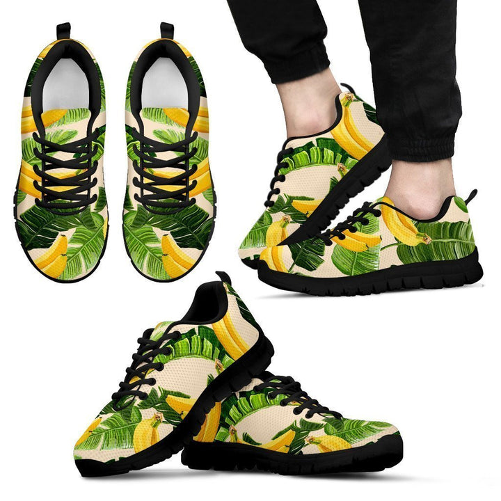 Aloha Banana Pattern Print Men's Sneakers GearFrost