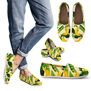 Aloha Banana Pattern Print Women's Casual Shoes GearFrost