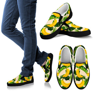 Aloha Banana Pattern Print Women's Slip On Shoes GearFrost