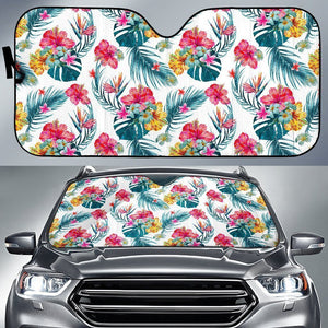 Aloha Hawaii Floral Pattern Print Car Sun Shade GearFrost