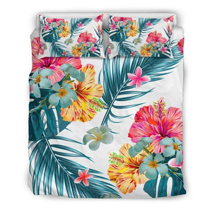 Aloha Hawaii Floral Pattern Print Duvet Cover Bedding Set GearFrost