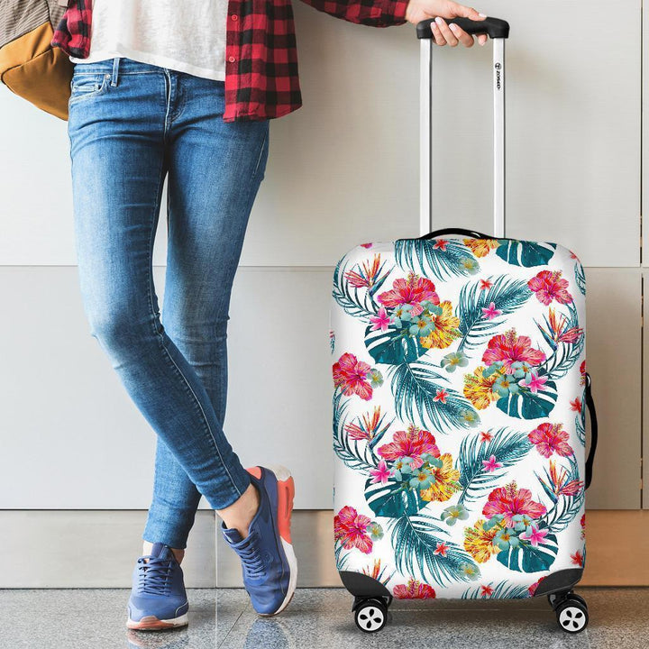 Aloha Hawaii Floral Pattern Print Luggage Cover GearFrost