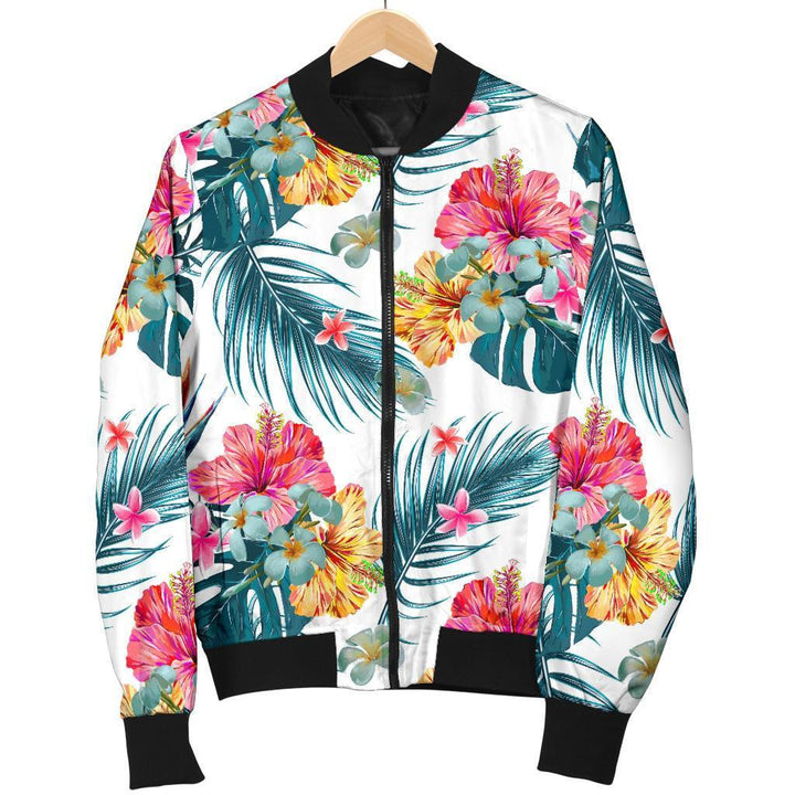 Aloha Hawaii Floral Pattern Print Men's Bomber Jacket GearFrost