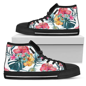 Aloha Hawaii Floral Pattern Print Men's High Top Shoes GearFrost