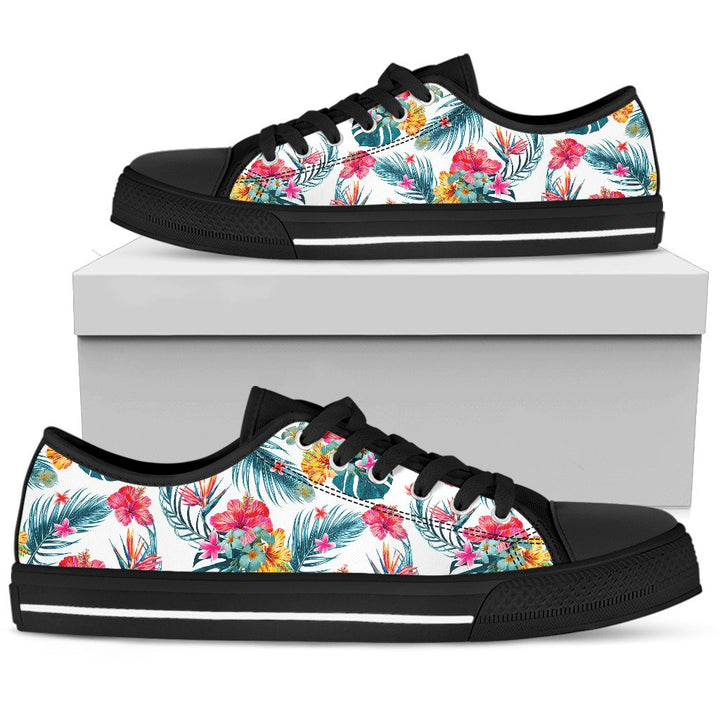 Aloha Hawaii Floral Pattern Print Men's Low Top Shoes GearFrost