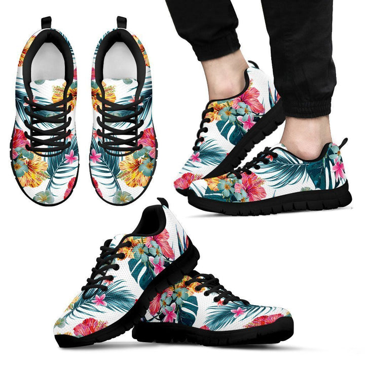Aloha Hawaii Floral Pattern Print Men's Sneakers GearFrost