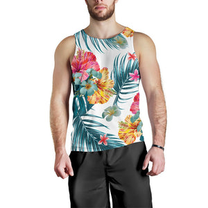 Aloha Hawaii Floral Pattern Print Men's Tank Top GearFrost
