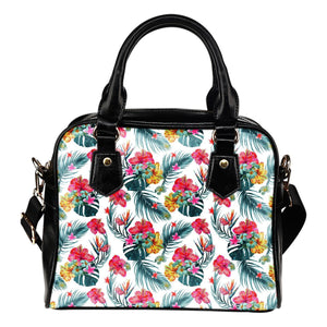 Aloha Hawaii Floral Pattern Print Shoulder Handbag GearFrost