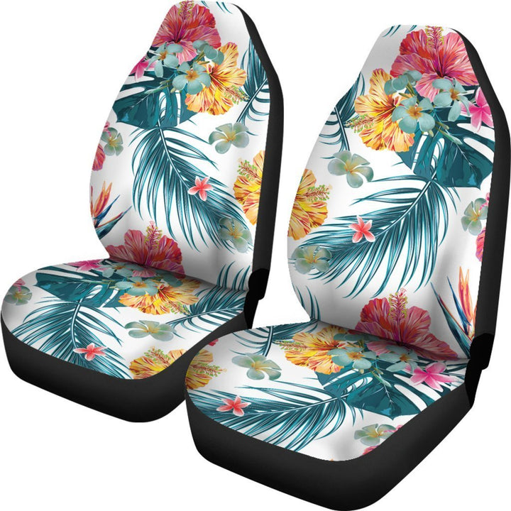 Aloha Hawaii Floral Pattern Print Universal Fit Car Seat Covers GearFrost