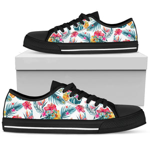 Aloha Hawaii Floral Pattern Print Women's Low Top Shoes GearFrost