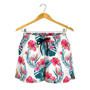 Aloha Hawaii Floral Pattern Print Women's Shorts GearFrost