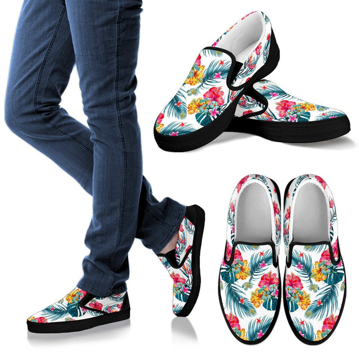 Aloha Hawaii Floral Pattern Print Women's Slip On Shoes GearFrost