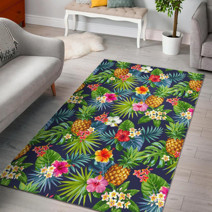 Aloha Hawaii Tropical Pattern Print Area Rug GearFrost