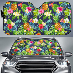 Aloha Hawaii Tropical Pattern Print Car Sun Shade GearFrost