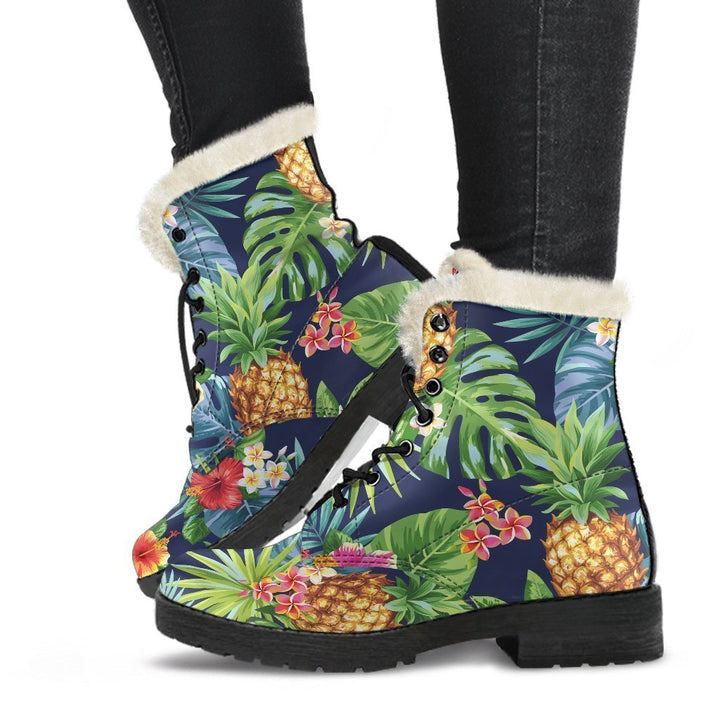 Aloha Hawaii Tropical Pattern Print Comfy Boots GearFrost