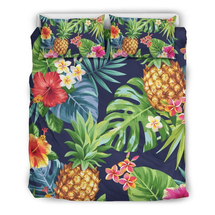 Aloha Hawaii Tropical Pattern Print Duvet Cover Bedding Set GearFrost