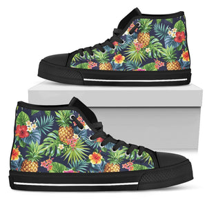 Aloha Hawaii Tropical Pattern Print Men's High Top Shoes GearFrost