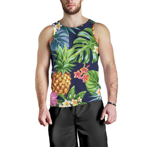 Aloha Hawaii Tropical Pattern Print Men's Tank Top GearFrost