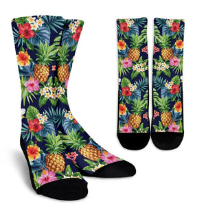 Aloha Hawaii Tropical Pattern Print Unisex Crew Socks GearFrost