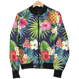 Aloha Hawaii Tropical Pattern Print Women's Bomber Jacket GearFrost