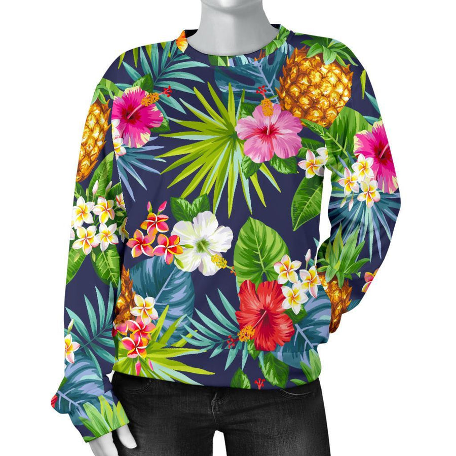 Aloha Hawaii Tropical Pattern Print Women's Crewneck Sweatshirt GearFrost