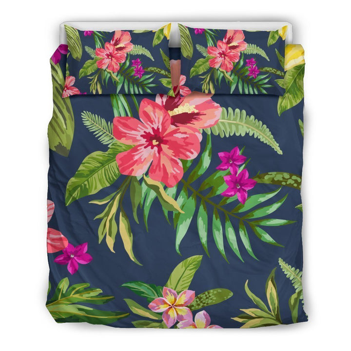 Aloha Hawaiian Flowers Pattern Print Duvet Cover Bedding Set GearFrost