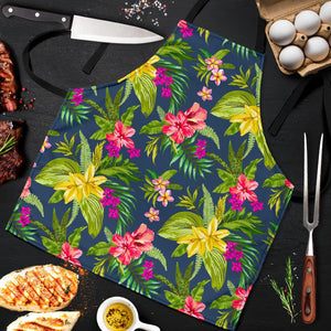 Aloha Hawaiian Flowers Pattern Print Men's Apron GearFrost