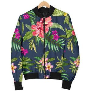 Aloha Hawaiian Flowers Pattern Print Men's Bomber Jacket GearFrost
