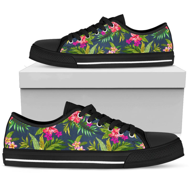 Aloha Hawaiian Flowers Pattern Print Men's Low Top Shoes GearFrost
