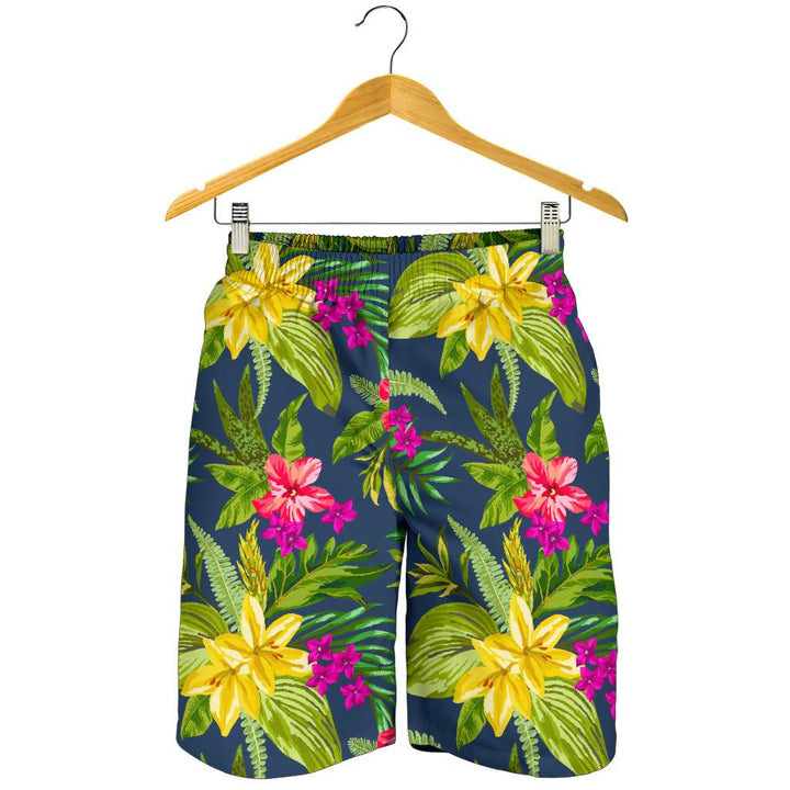 Aloha Hawaiian Flowers Pattern Print Men's Shorts GearFrost