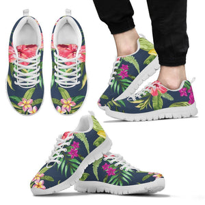 Aloha Hawaiian Flowers Pattern Print Men's Sneakers GearFrost