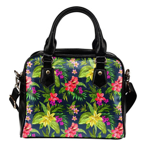 Aloha Hawaiian Flowers Pattern Print Shoulder Handbag GearFrost