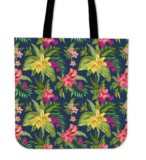 Aloha Hawaiian Flowers Pattern Print Tote Bag GearFrost