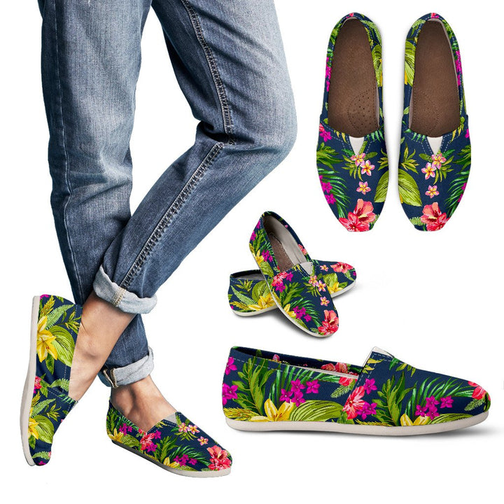 Aloha Hawaiian Flowers Pattern Print Women's Casual Shoes GearFrost