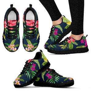 Aloha Hawaiian Flowers Pattern Print Women's Sneakers GearFrost