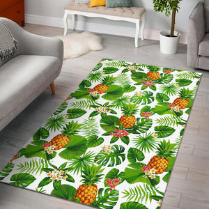 Aloha Hawaiian Pineapple Pattern Print Area Rug GearFrost