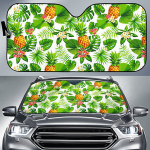 Aloha Hawaiian Pineapple Pattern Print Car Sun Shade GearFrost